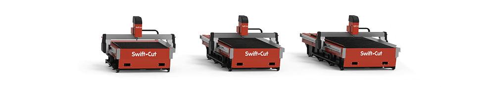 Rozmiary stołów Swift-Cut Pro
